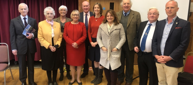 Torridge and West Devon AGM, inc officers old and new, plus Hon Sheryll Murray MP
